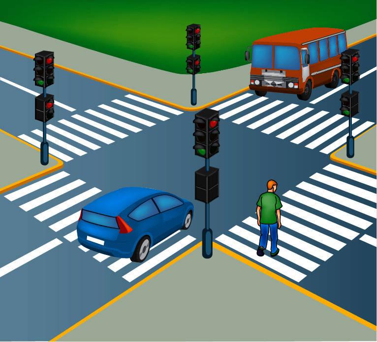 все картинка перекресток с пешеходным переходом скатать шар